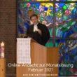 Online-Andacht zur Monatslosung Februar 2021 aus der Matthäuskirche mit Pfarrer Michael Frentrup