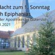 Online Andacht zum 1. Sonntag nach Epiphanias aus der Apostelkirche