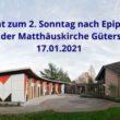 Andacht zum 2. Sonntag nach Epiphanias aus der Matthäuskirche in Gütersloh