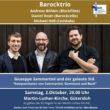 """""""Giuseppe Sammartini und der galante Stil"""". Ein Konzert mit dem Barocktrio Andreas Böhlen, Daniel Rosin und Michael Hell"""