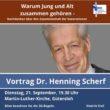 Vortrag & Gespräch mit Dr. Henning Scherf: Warum Jung und Alt zusammen gehören